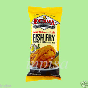 Louisiana fish fry mix 3 bags x 10oz seafood breading new for Fish fry mix