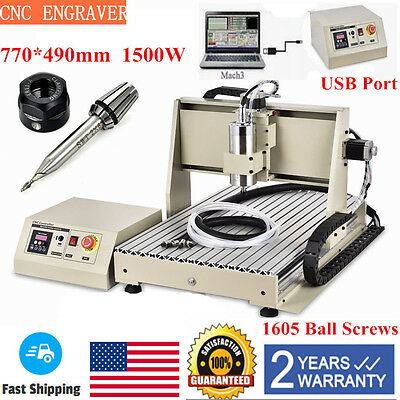 Diy Cnc 3 Axis 6040 Engraver Machine Pcb Pvc Milling Wood Carving Router Kit Usb
