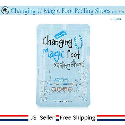 Tony Moly Changing U Magic Foot Peeling Shoes (17ml x 2) 1pack + Free Sample US
