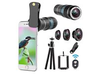 Telephoto lens kit, 4 in 1 Cell Phone Camera Lens,for iphone,Samsung&Remote Shutter