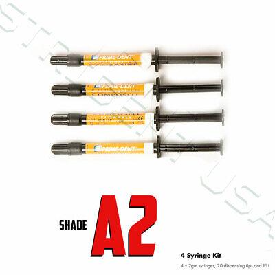 Prime Dent Flowable Composite A2- 4 Syringe Kit - Vlc