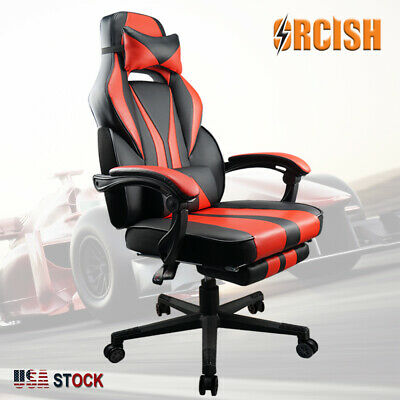 ORCISH Gaming Chair Racing Ergonomic PU Leather Office Swivel Recliner Footrest