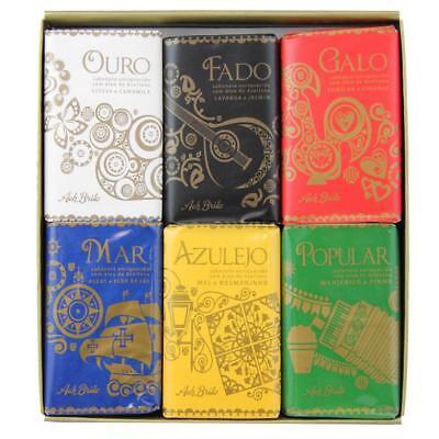 Ach Brito Claus Porto Set of 6 Deluxe Lusitanos Soap Box Collection