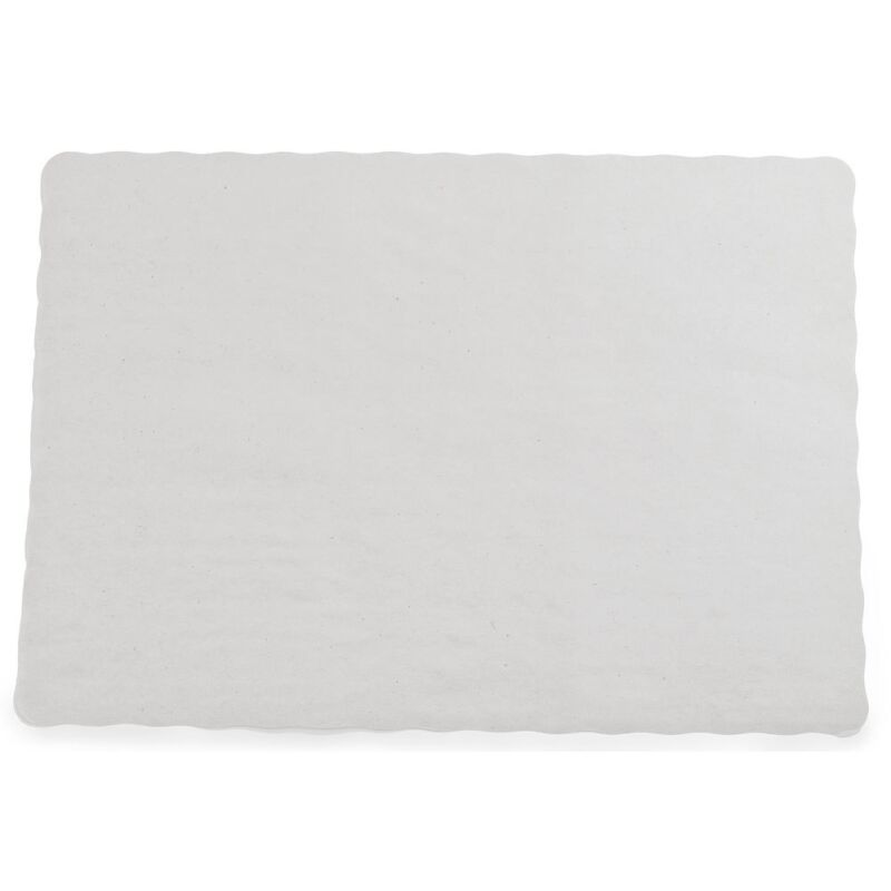 CASE OF 1,000 OFF WHITE ECONOMY PAPER PLACEMATS WITH SCALLOPED EDGES