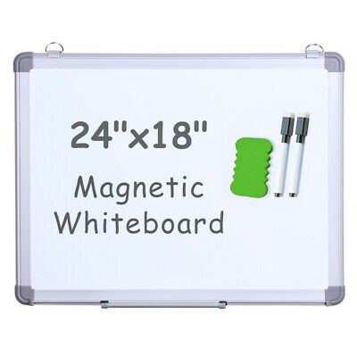 Viz-pro Small Dry Erase White Boardmagnetic Hanging Whiteboard 24 X 18 Inch