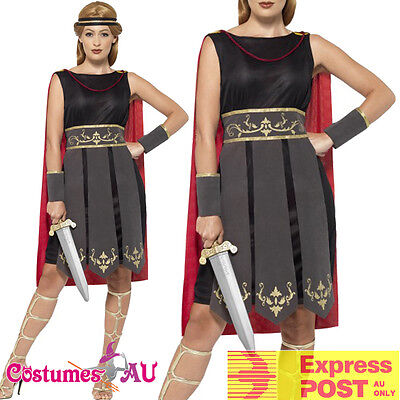 Ladies Xena Gladiator Warrior Costume Princess Roman Spartan Greek Fancy Dress - Spartan Princess Costume