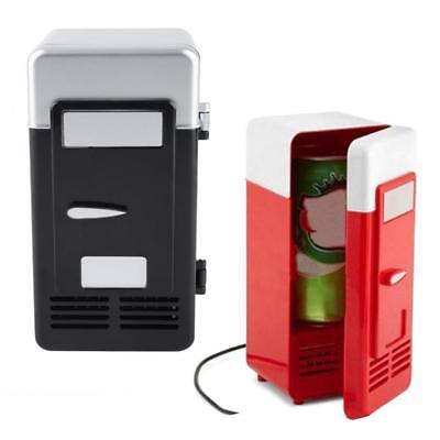 Compact Mini USB Fridge Freezer Can Drink Beer Cooler Warmer Travel Car Office H