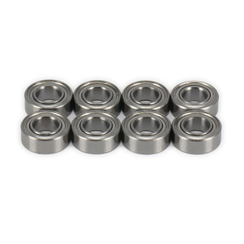 8pcs Shield Ball Bearing 8*4*3mm Steel For RC 1/18 Wltoys A959 K929 A969 A979