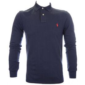 Ralph lauren long sleeve polo navy good condition size xxl