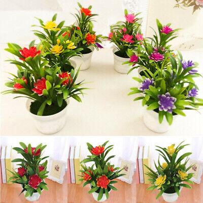 Artificial Lotus Flower Potted Plant Bonsai Wedding Party Outdoor Home Decor CAK