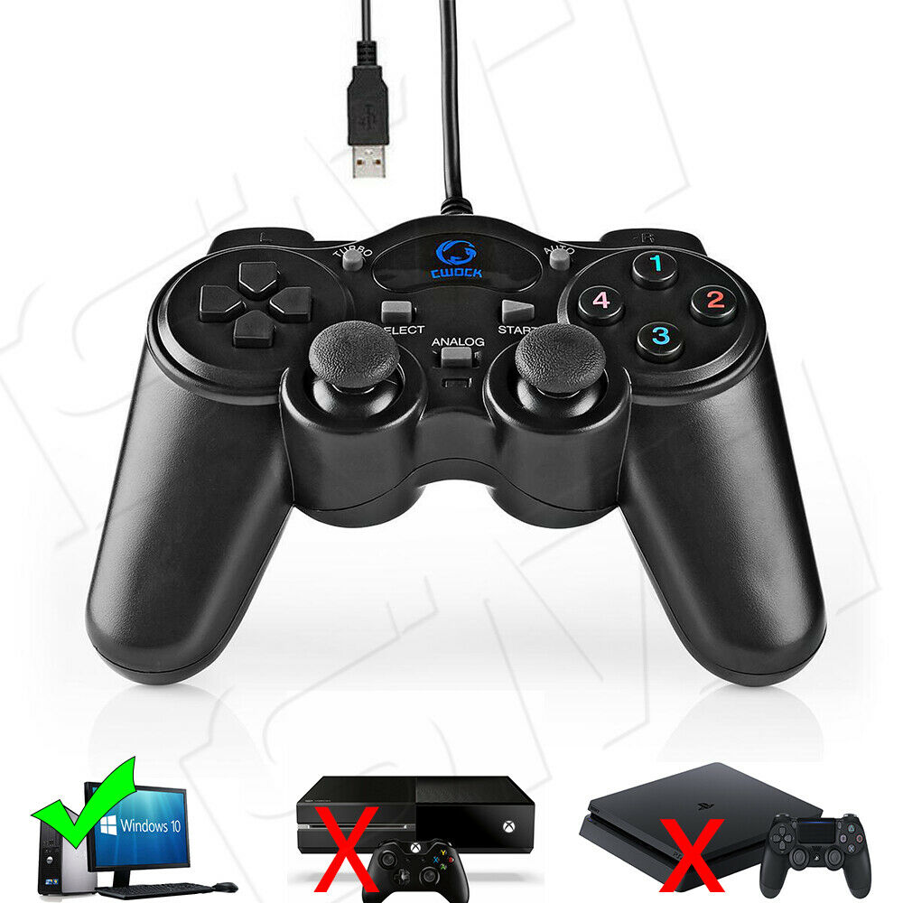 USB Gamepad für PC Computer Vibration Joypad Controller Gaming 1,5m Mac & Win 10