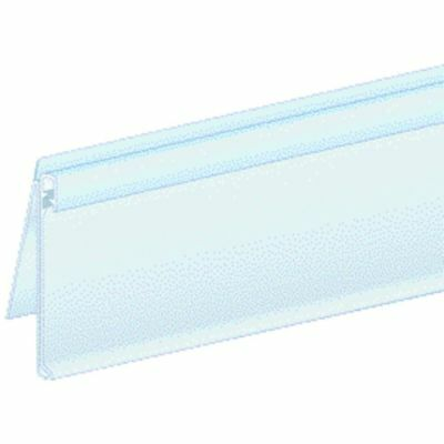 ClearGrip? Plastic Extra Duty Label Holders for Shelves With Moldings - 1 1/4