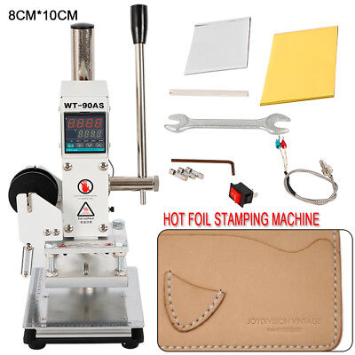 810cm Manual Digital Hot Foil Stamping Machine Leather Logo Stamp Bronzing 110v