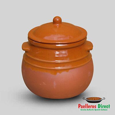 Spanish Terracotta Stew Pot / Soup Tureen / Puchero - 4.5 Litre