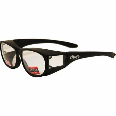 Escort Safety Glasses Fits Over Most Prescription Eyewear CLEAR Lens UV400 Z87.1