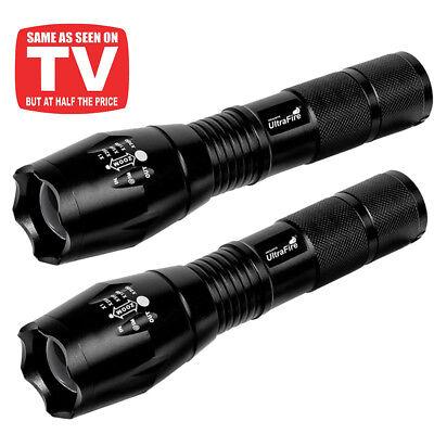 Best Led Flashlights (Tactical V1000 LED Flashlight [2 PACK] – Best High Lumen Handheld Lamp)