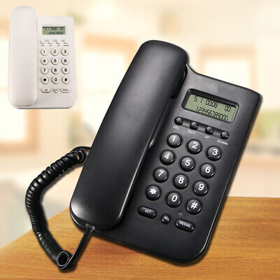 Wall Mount Corded Telephone Home Office Desktop Phone Lcd Display