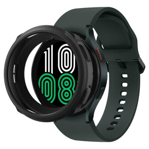 Galaxy Watch 4 Case | Spigen ®[ Liquid Air ] Shockproof Slim Matte Black Cover