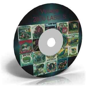 2800 Vintage Label Images on  Art & Craft CD