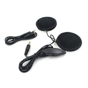 Helm Lautsprecher Kopfhörer für Motorrad Heimlautsprecher 3.5mm Headset MP3 NEU