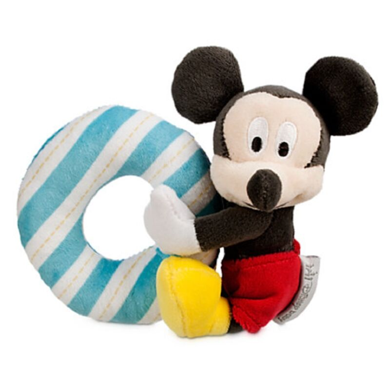 Disney Mickey Mouse Plush Rattle for Baby