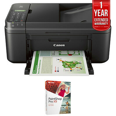 Canon Wifi All In One Printer Scanner Copier Fax W  Paint Shop Pro X9 Bundle