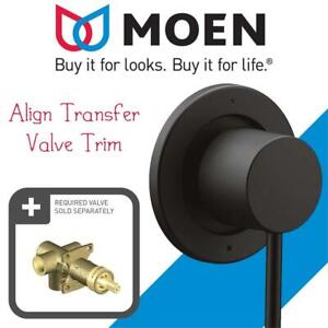 New  Moen T4191BL Align Transfer Valve Trim, Matte Black Condition: New
