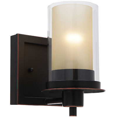 Oil Rubbed Bronze Juno Series 1 Light Bath & Wall Fixture: 73467