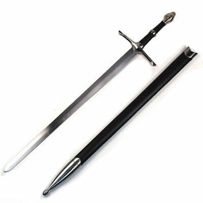 ARAGORN SWORD Irish Ring Hilt Celtic Medieval Crusader Sword with Scabbard NEW
