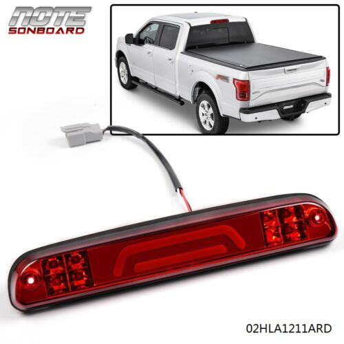 FOR FORD SUPER DUTY RED THIRD 3RD BRAKE LIGHT CARGO LAMP 3D LED BAR 1999-2016