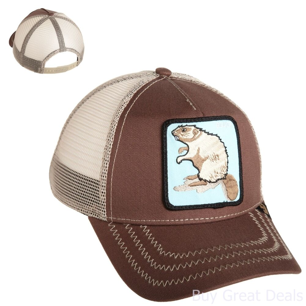 Details about Goorin Bros Mens Beaver Baseball Cap Hat Brown One Size Patch  Trucker dda83398b0f