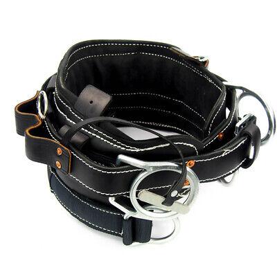 Miller 8449-1d26bk Black Leather Full Floating Linemans Body Belt 44-54 Waist