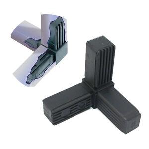 Square Aluminium Steel Tube / Pipe Metal Box Section Plastic End Caps Fittings