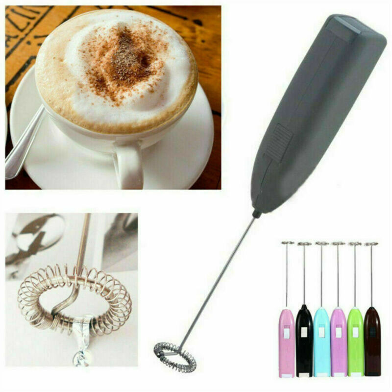Handheld Coffee Latte Hot Chocolate Milk Frother Whisk Froth
