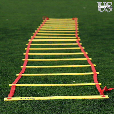 8-Rung Agility Ladder for Soccer Speed Football Fitness Feet Training 4M w/ Bag
