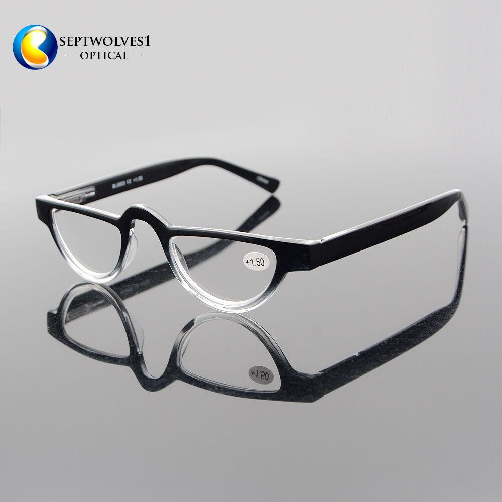 15f9fe4c473 Half Moon Mens Women Vintage Spring Hinge Eyeglasses Reading Glasses +1 +2  +3