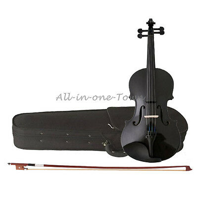 New 4/4 Full Size Acoustic Violin Fiddle Black with Case Bow Rosin  on Rummage