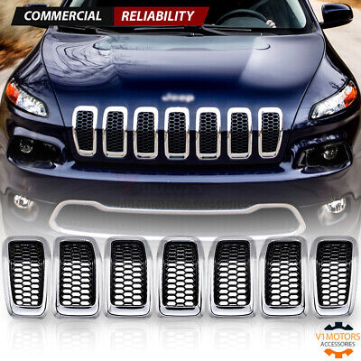 For 2014 2015 2016 2017 2018 Jeep Cherokee Honeycomb Mesh Grill Insert Cover 7