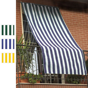 Tenda da sole in tessuto a strisce con anelli ombra per - Tenda da esterno ikea ...