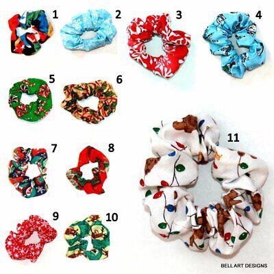 Christmas, Snowflake, Bows, Scrunchies, Hair Ties, Scrunchy, Bell Art Designs