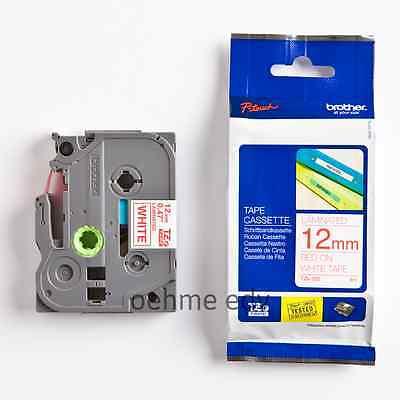 Brother Schriftbandkassette TZe-232 rot auf weiß 12mm x 8m P-touch neu ovp