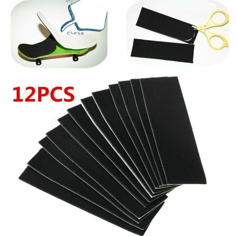12x Wooden Fingerboard Uncut Non-slip Black Foam Grip Tape S