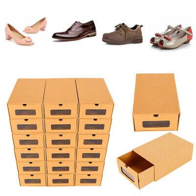 20pcs caja de zapatos caja de almacenamiento caja de papel apilable Organizador
