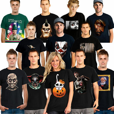 Top Men Halloween Costumes (Digital Dudz Mens Womens T Shirt Animated Mobile App Funny Scary Halloween)