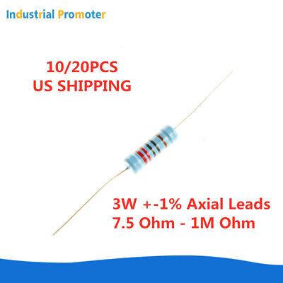 1020pcs 3w 3watt Metal Film Resistor 1 7.5 - 1m Ohm Up To 1000 Kr