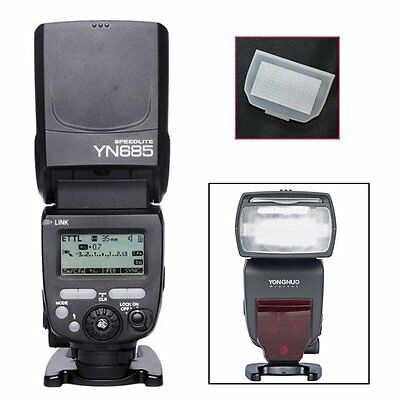 YONGNUO YN685 TTL HSS 1/8000 Wireless Flash Speedlite for Canon + Diffuser US