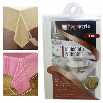 Window Clear Vinyl Tablecloth Protector Heavy Square Plastic Table Cover 54x54](Vinyl Table Covers)