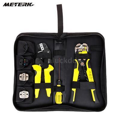 4 In 1 Wire Crimpers Crimping Pliers Bootlace Ferrule Crimper Tool Meterk M0M1