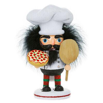"[Kurt Adler Hollywood Nutcracker - Pizza Chef Christmas Nutcracker 8"" HA0335 New</Title]"