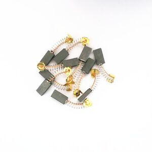10x Electric Motor Carbon Brushes 5x10x19mm Springs Wire
